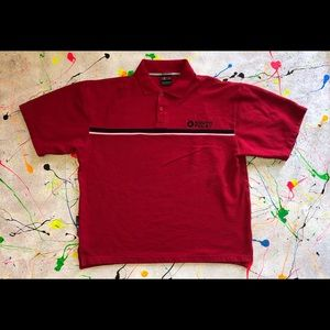 Vintage South Pole Polo Shirt Size Large Red/Blk